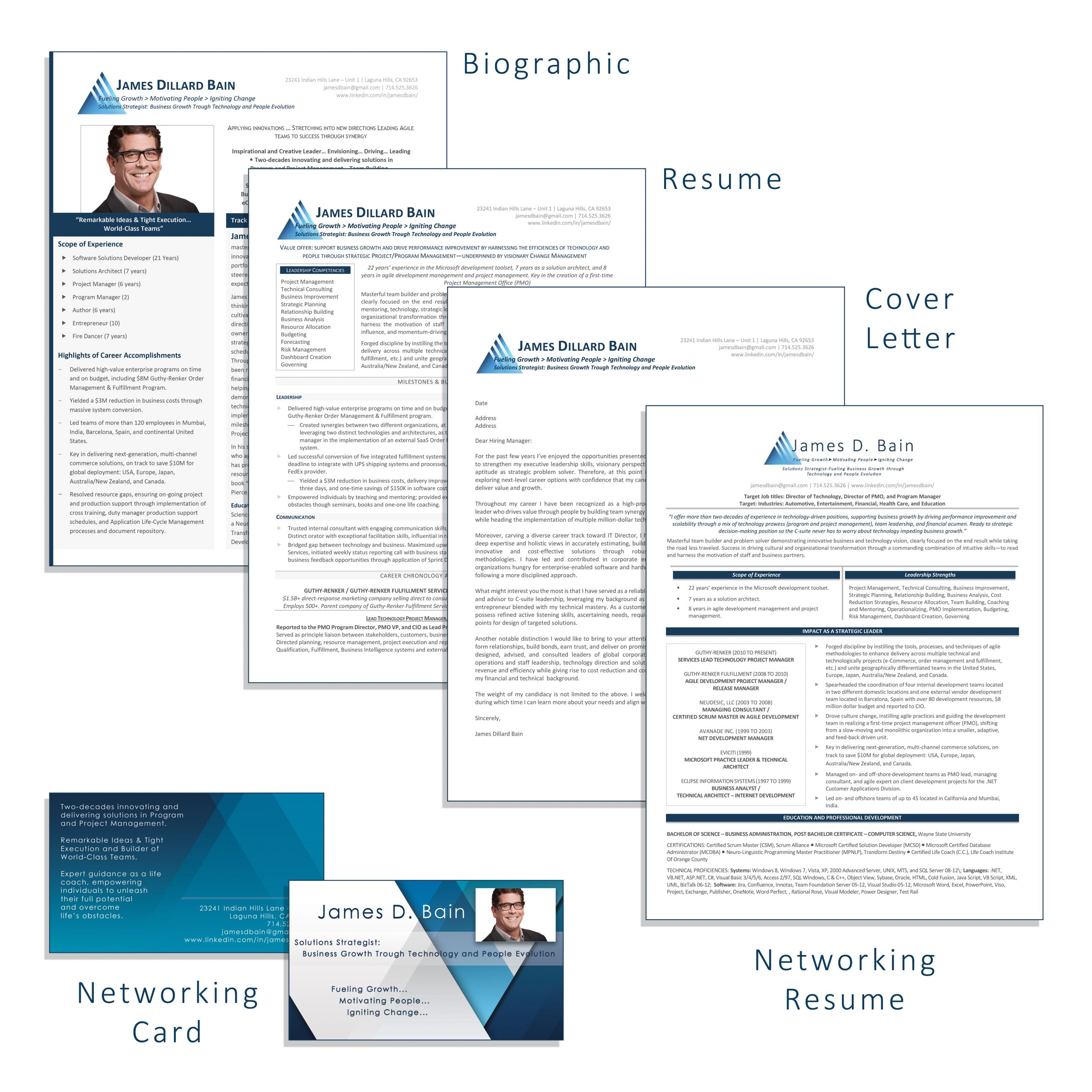 executive resume service packages