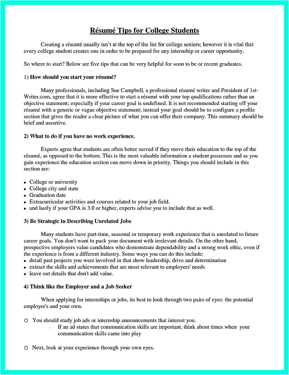 Things to Put On A Student Resume Best College Student Resume Example to Get Job Instantly