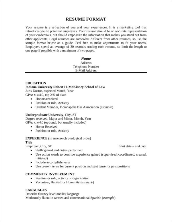 expert tips on resume principles