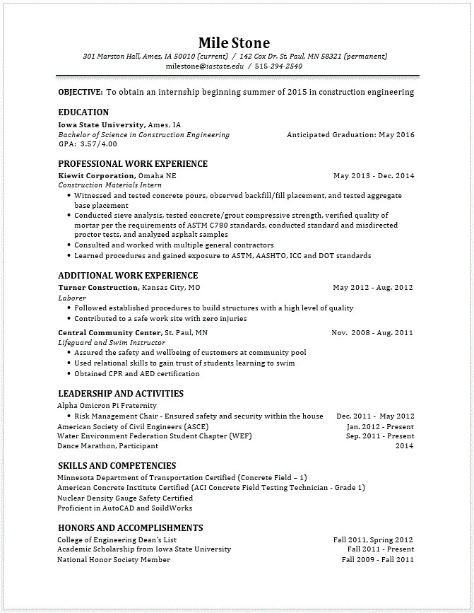10 engineering student resume template