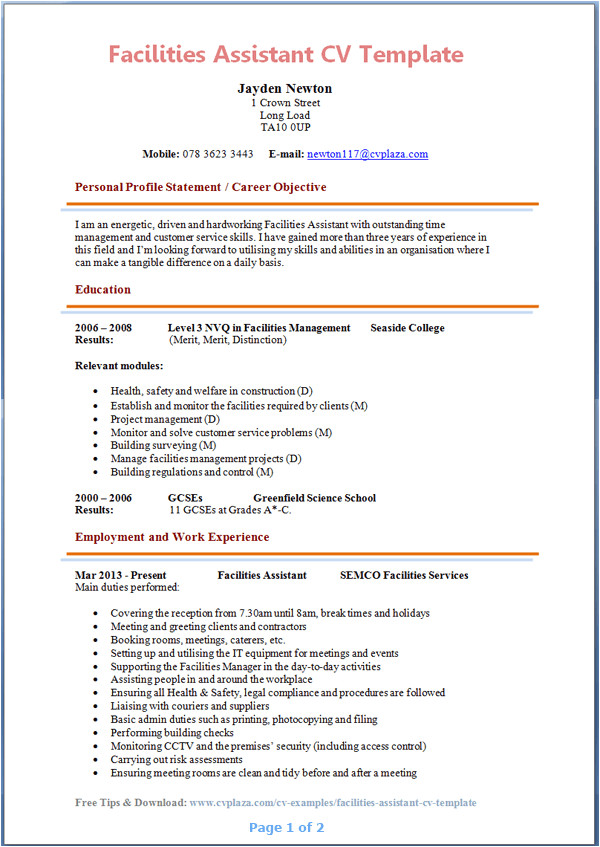 Uta Student Resume Template Resume for the Post Of Personal assistant