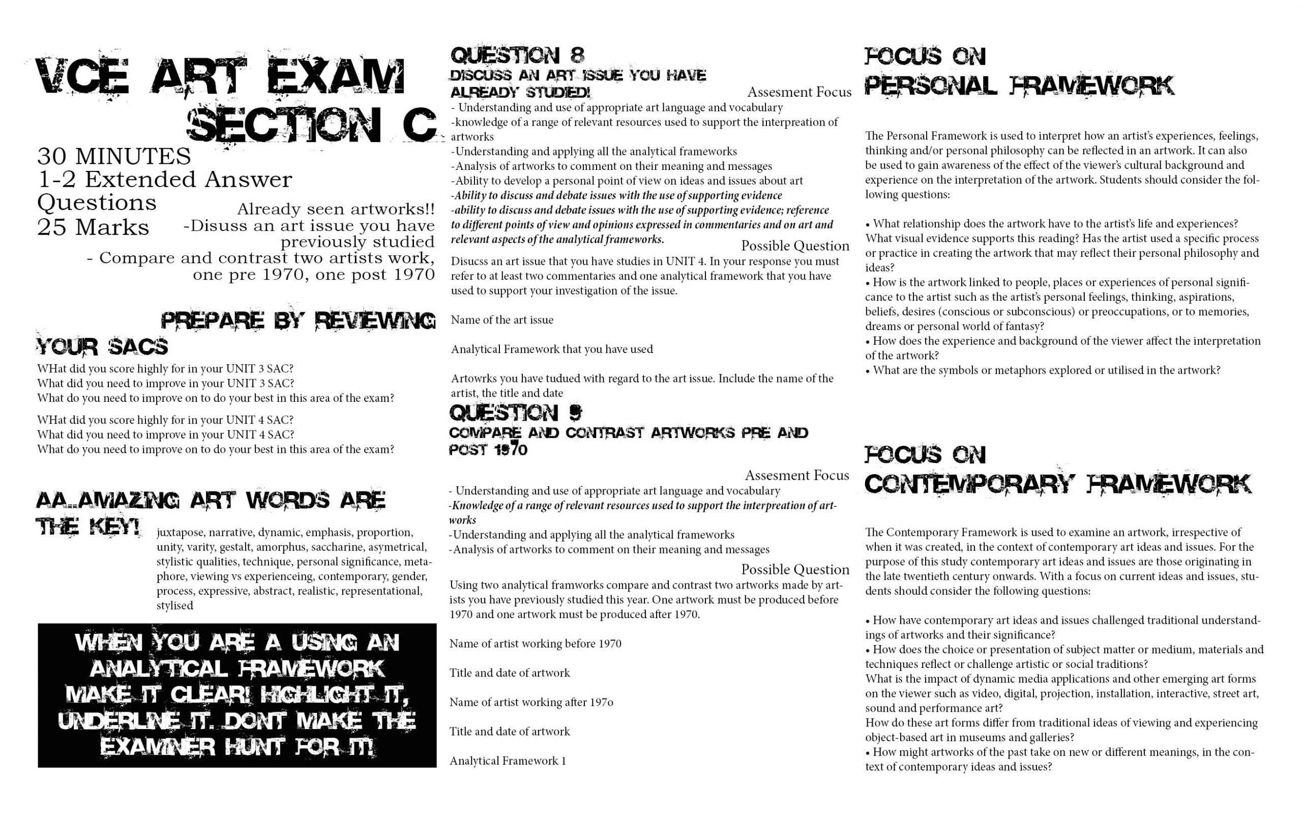 vce art exam