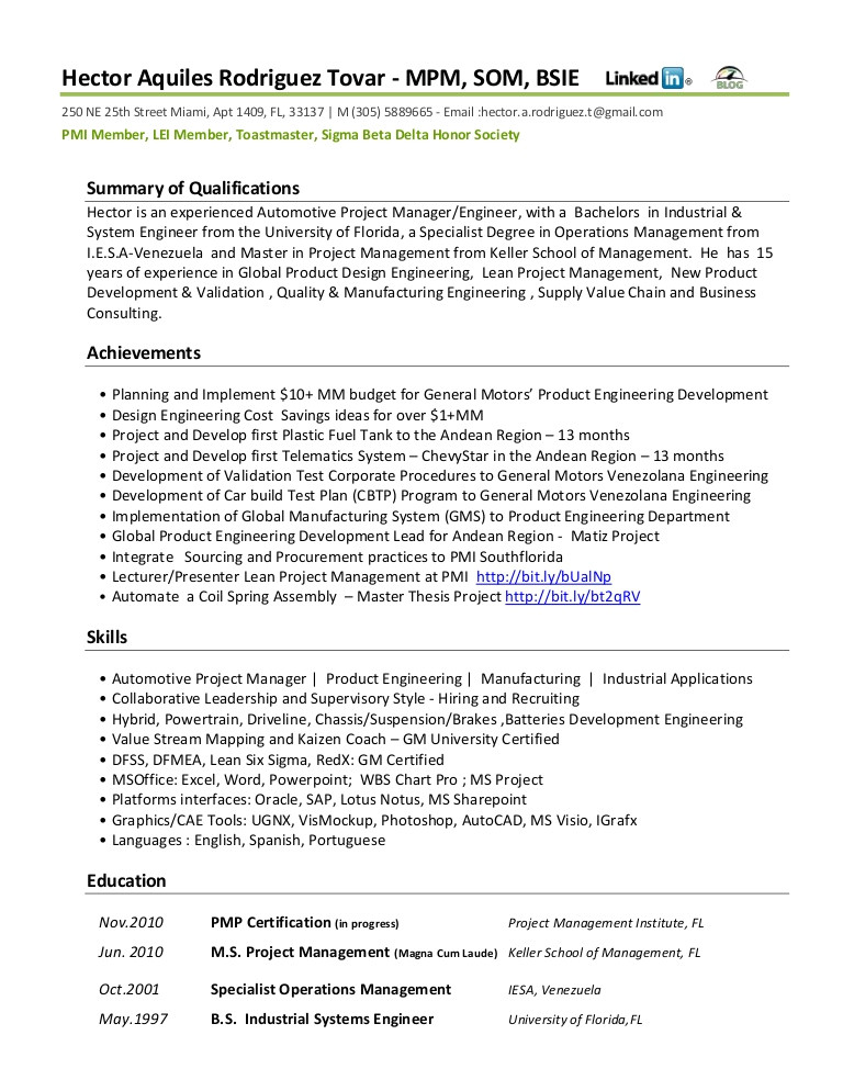 Vehicle Integration Engineer Resume Resume Functional Automotive