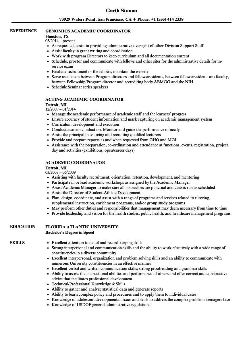 18 academic resumes examples