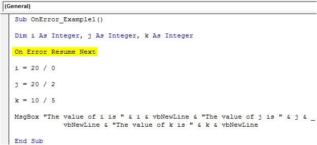 Visual Basic Resume Next Vba On Error Statement top 3 Ways to Handle Errors In Vba