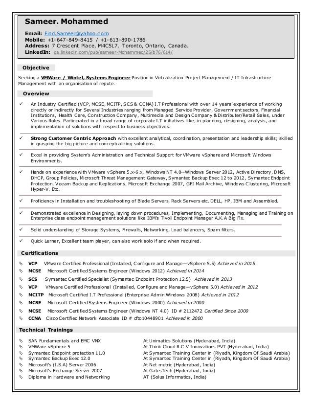 sameers vmware wintel systems engineerresume042016