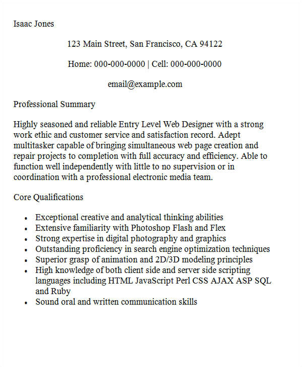 free fresher resume