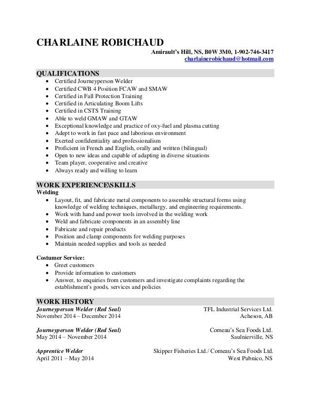 cover letter welding engineer
