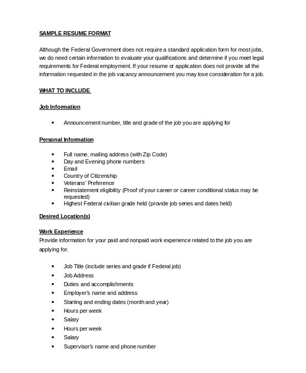 What is Word format Resume Resume Sample 8 Examples In Word