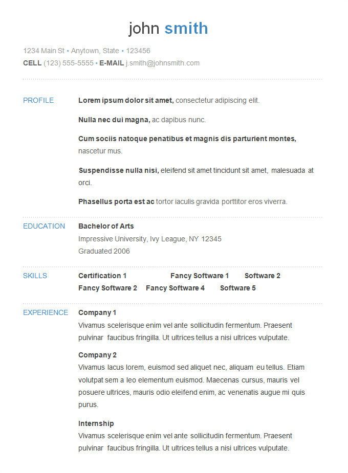 What to Include In A Basic Resume 70 Basic Resume Templates Pdf Doc Psd Free
