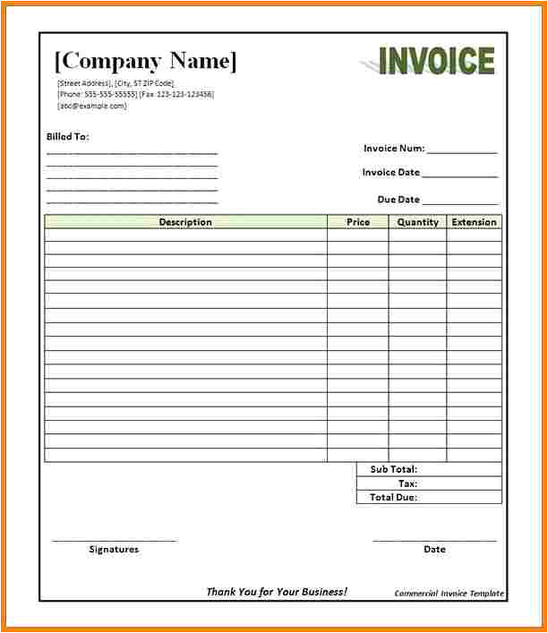 Writable Blank Resume 5 Commercial Invoice Template Pdf Free Invoice Letter