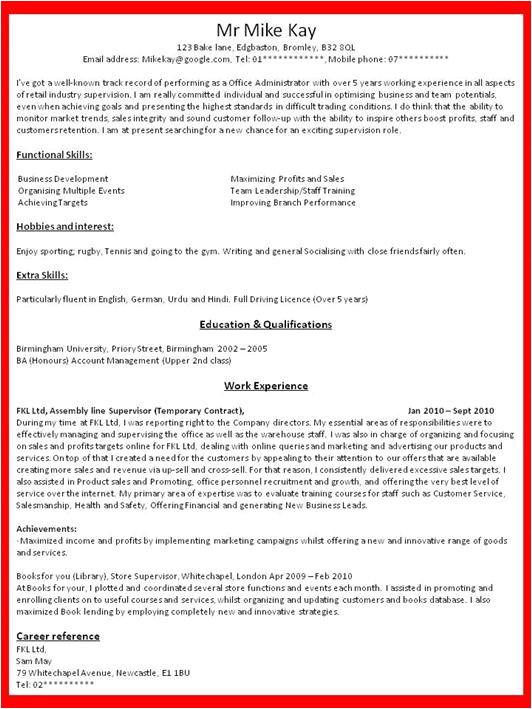 how to write a job resume 8862