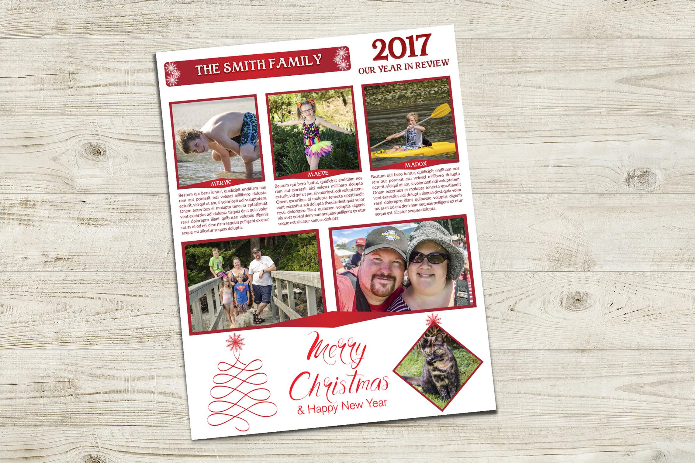 family newsletter christmas 2017 mock up jpg