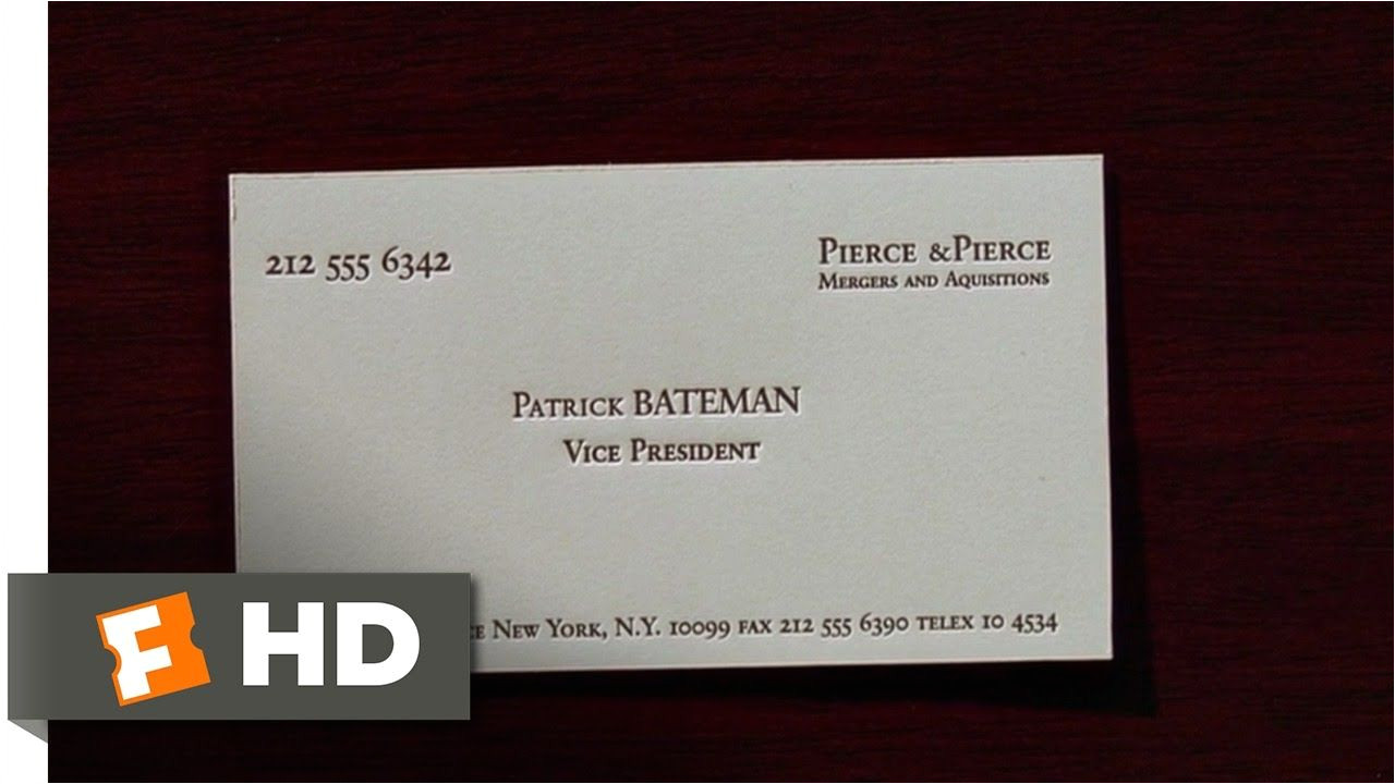 American Psycho Business Card Quote Pin On Sample Professional Templates