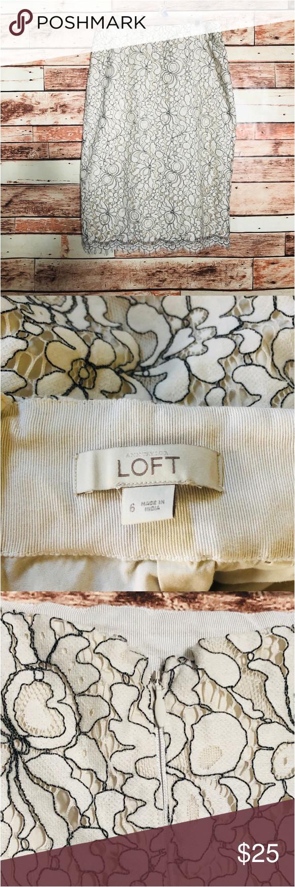 Ann Taylor Loft Love Card Ann Taylor Loft Cream Lace Overlay Skirt Ann Taylor Loft
