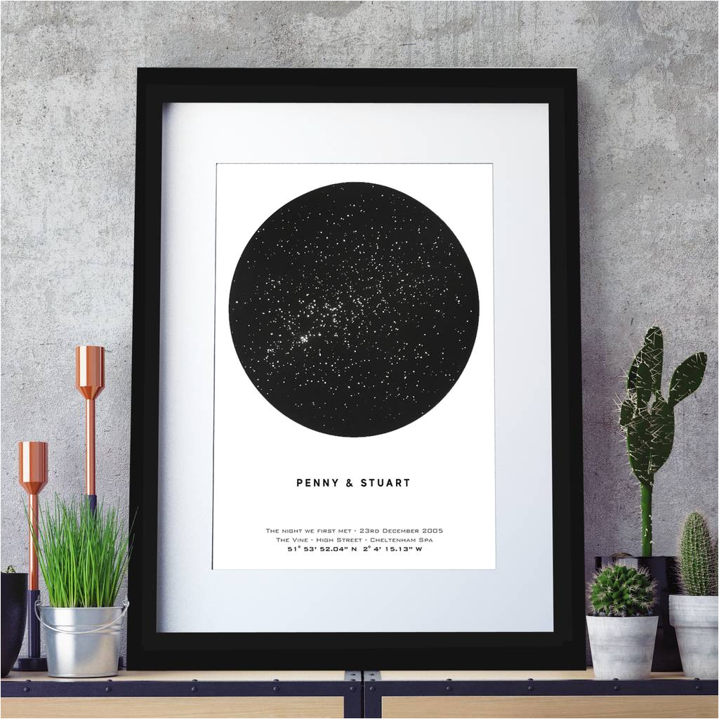 original personalised metallic star map print jpg