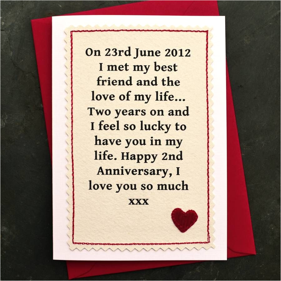 Anniversary Card Quotes for Girlfriend when We Met Personalised Anniversary Card with Images