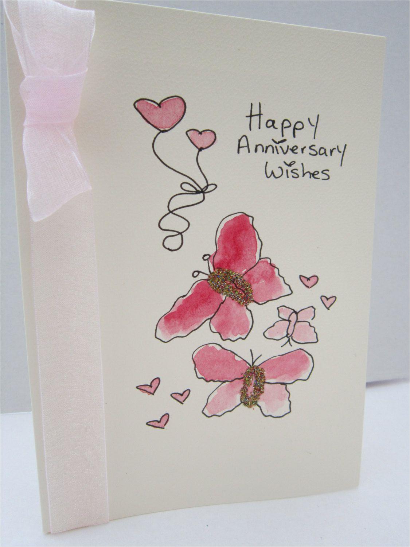 Anniversary Ke Liye Greeting Card Anniversary Card Watercolour Card Hand Painted Card