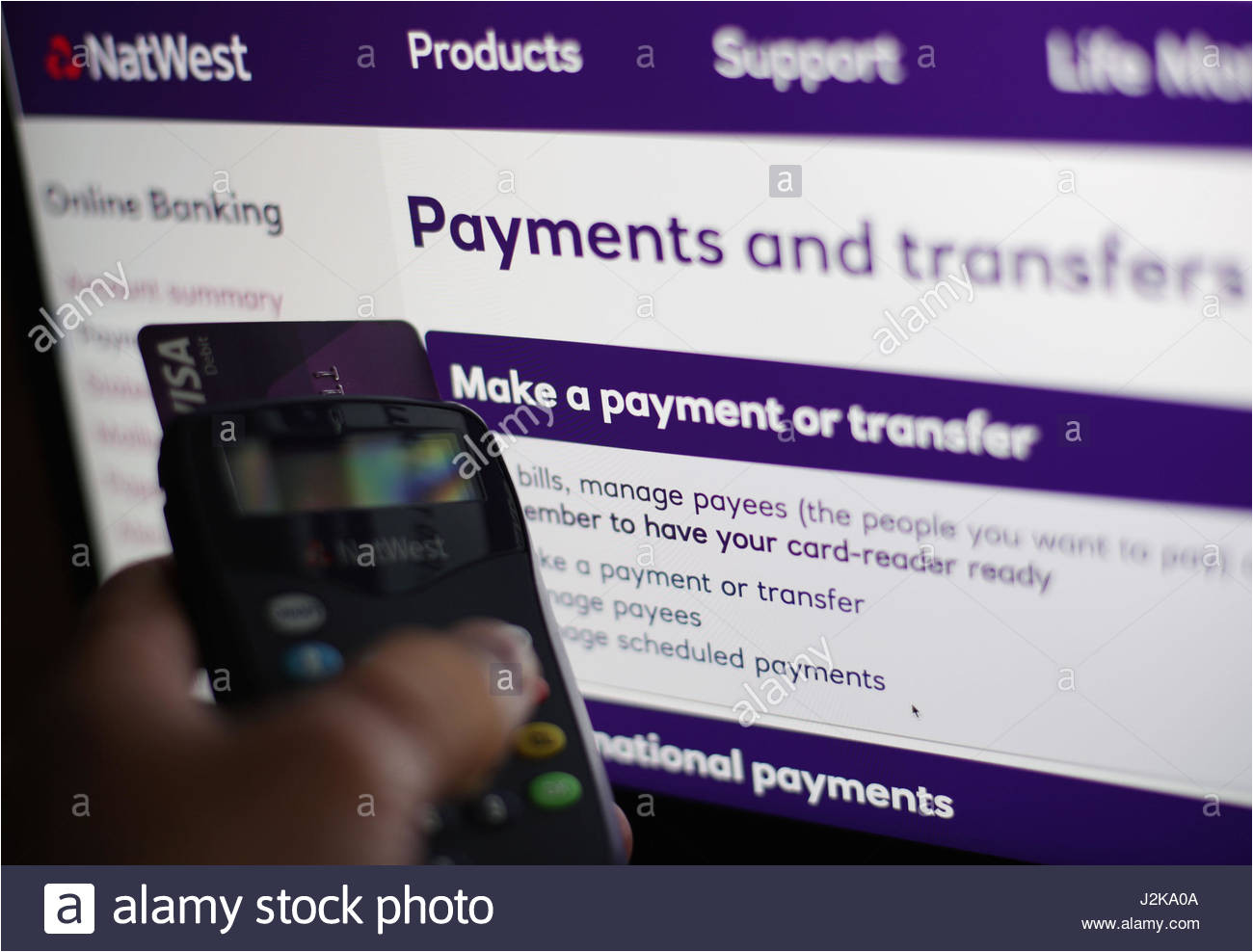 the natwest online banking website on a laptop in london as banking j2ka0a jpg