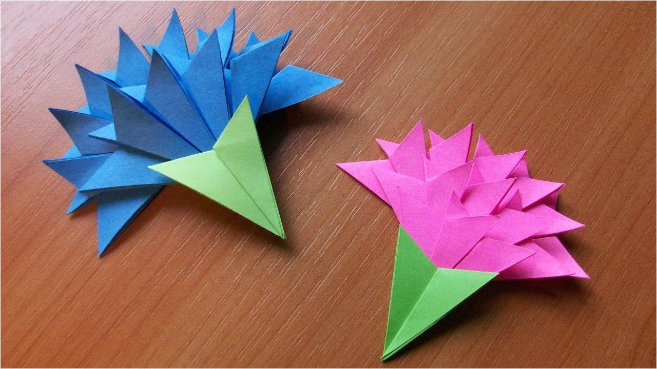 papercraft origami flowers how to make easy paper flowers for greeting card handmade decoration jpg