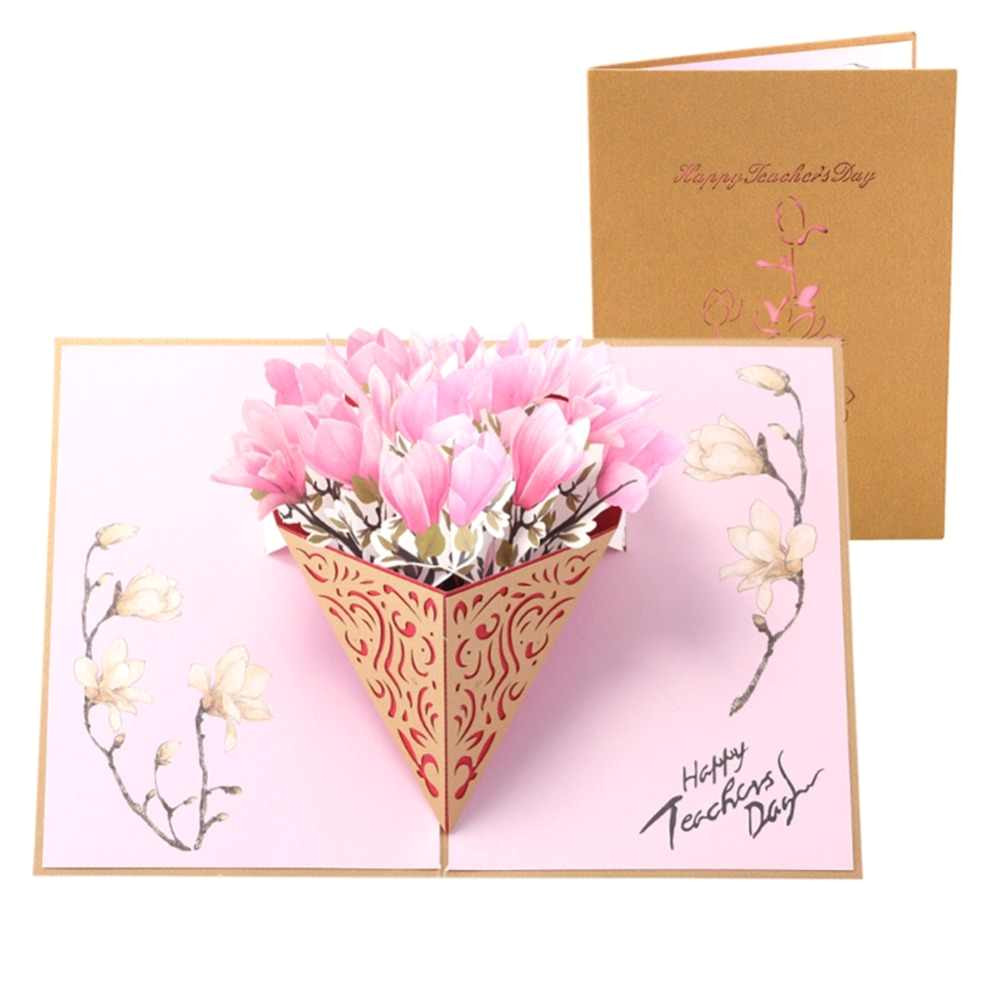 teachers day 3d pop up gift card creative magnolia cake stereoscopic greeting card 3d happy birthday jpg q50 jpg