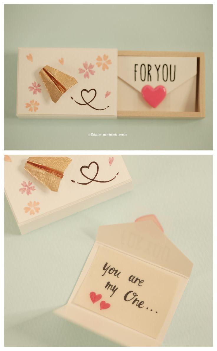 Birthday Diy Card for Him Miniatur Matchbox Karte Valentinstag Geschenk Box Cheer