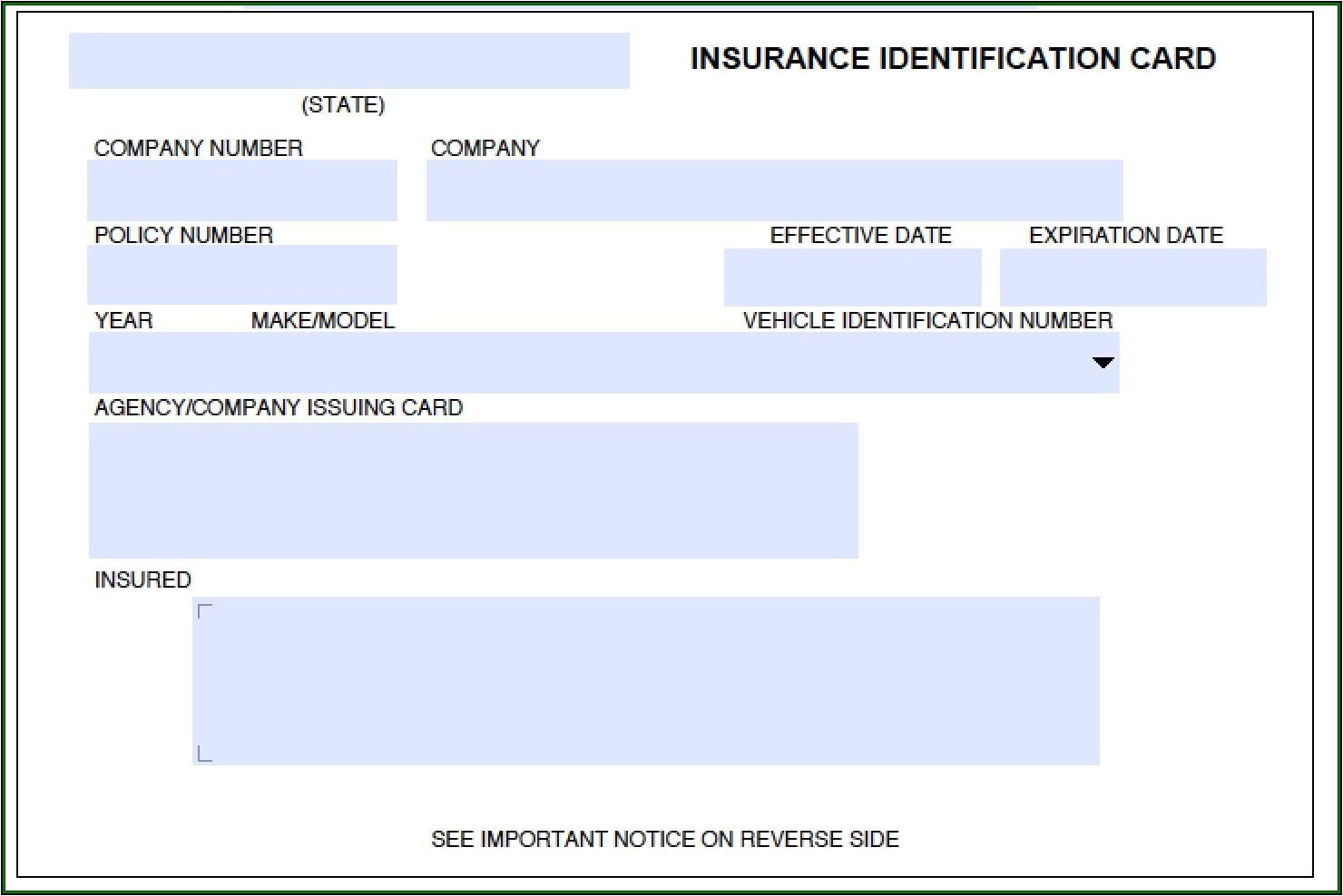 auto insurance id card template jpg