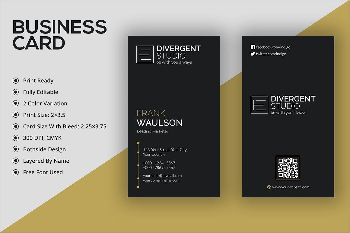 Blank Vertical Business Card Template Vertical Business Card A A µa A A A A A