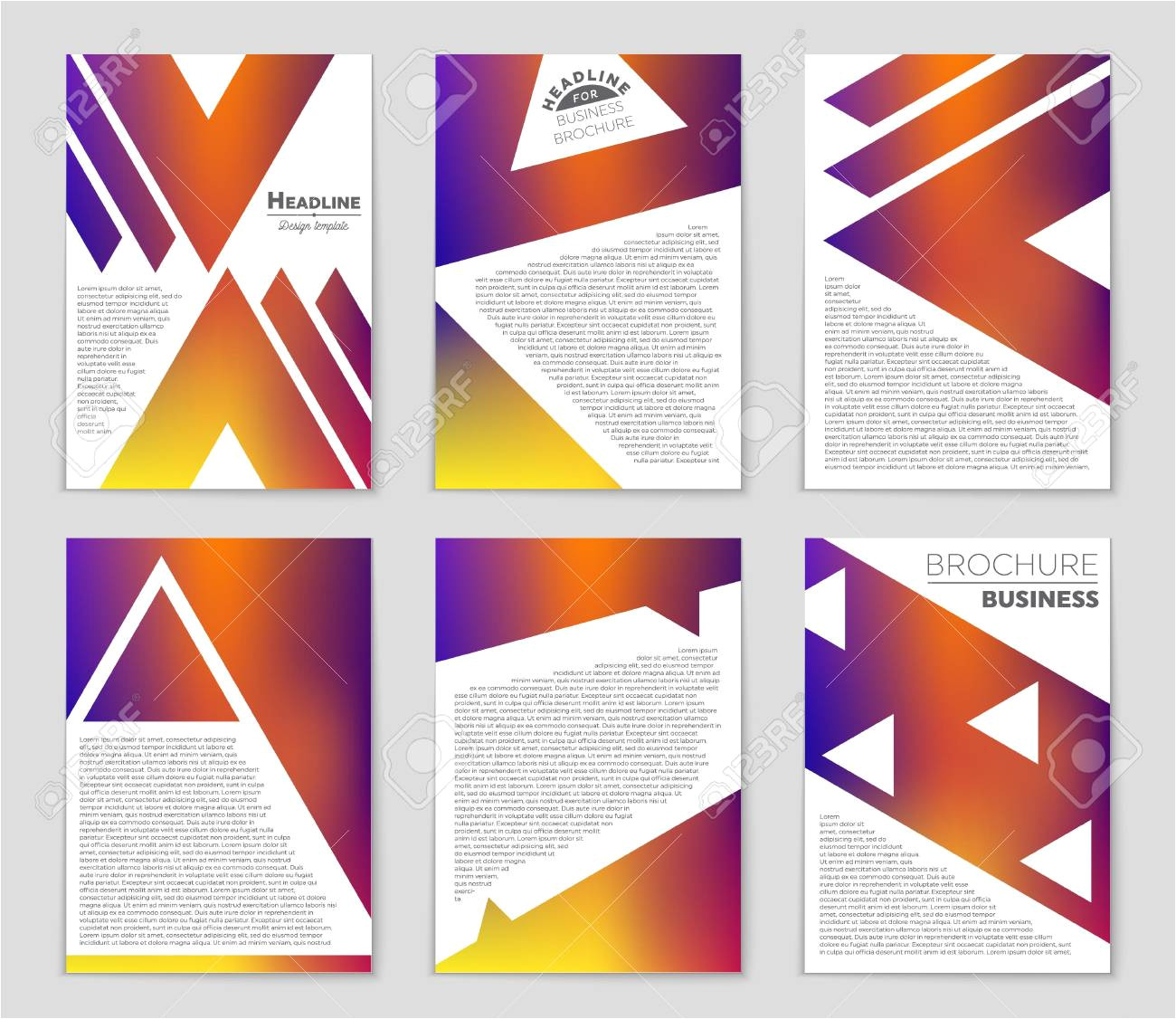 86472471 abstract vector layout background set for art template design list front page mockup brochure theme jpg