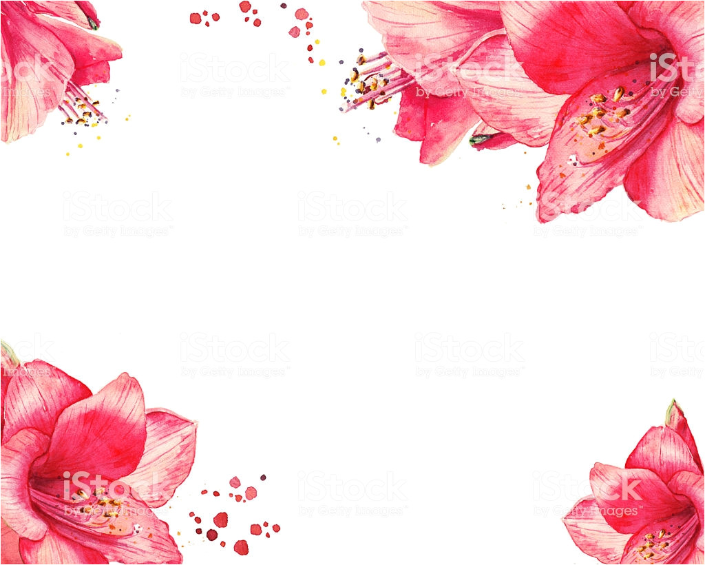 watercolor floral border for happy new year christmas cards illustration id599958744