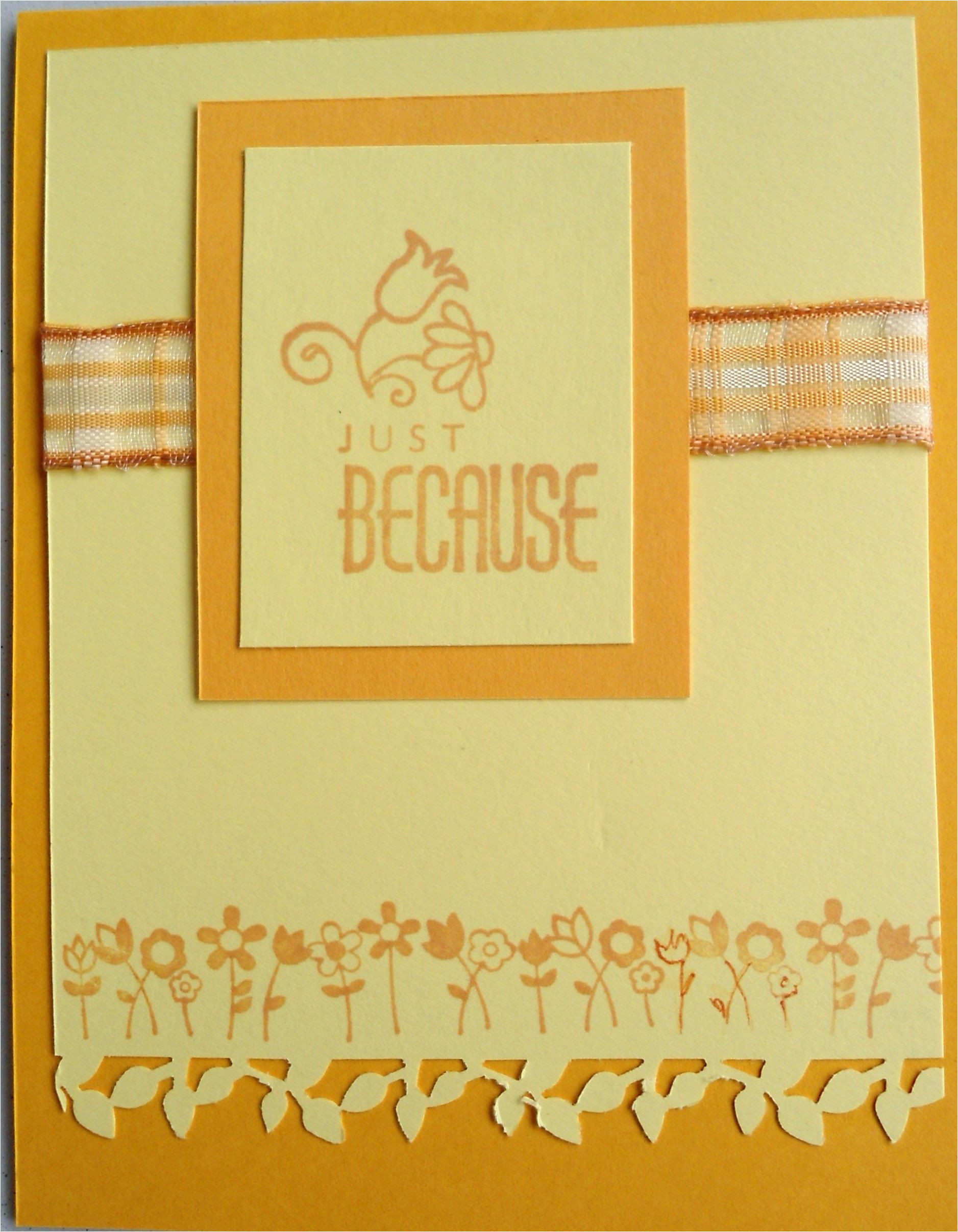 Border Punches for Card Making Like This Card Colors Blend Well the Leaf Border Was A