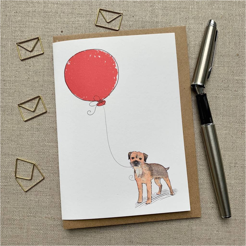 Border Terrier Father S Day Card Personalised Border Terrier Birthday Card
