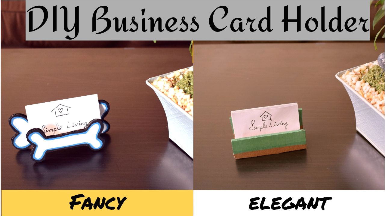 Business Card Holder for Desk Diy Business Card Holder Stand for Table How to Make
