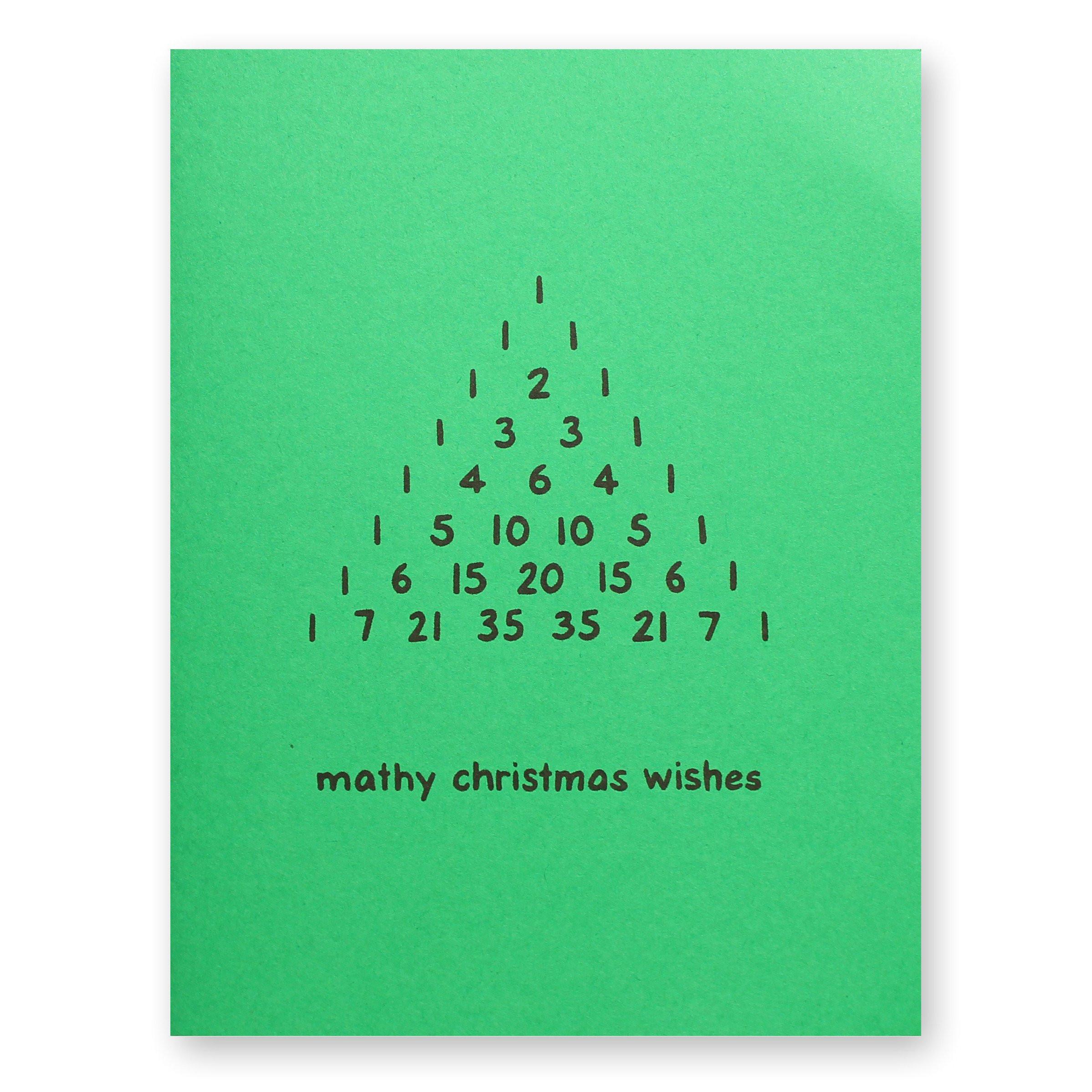 pascal triangle math christmas card jpg