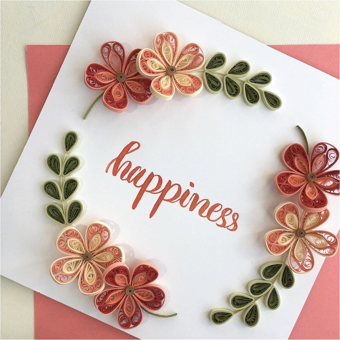 Card Decoration with Paper Flower Paper Flowers Wall Decor Quilling Wall Art Home Decor