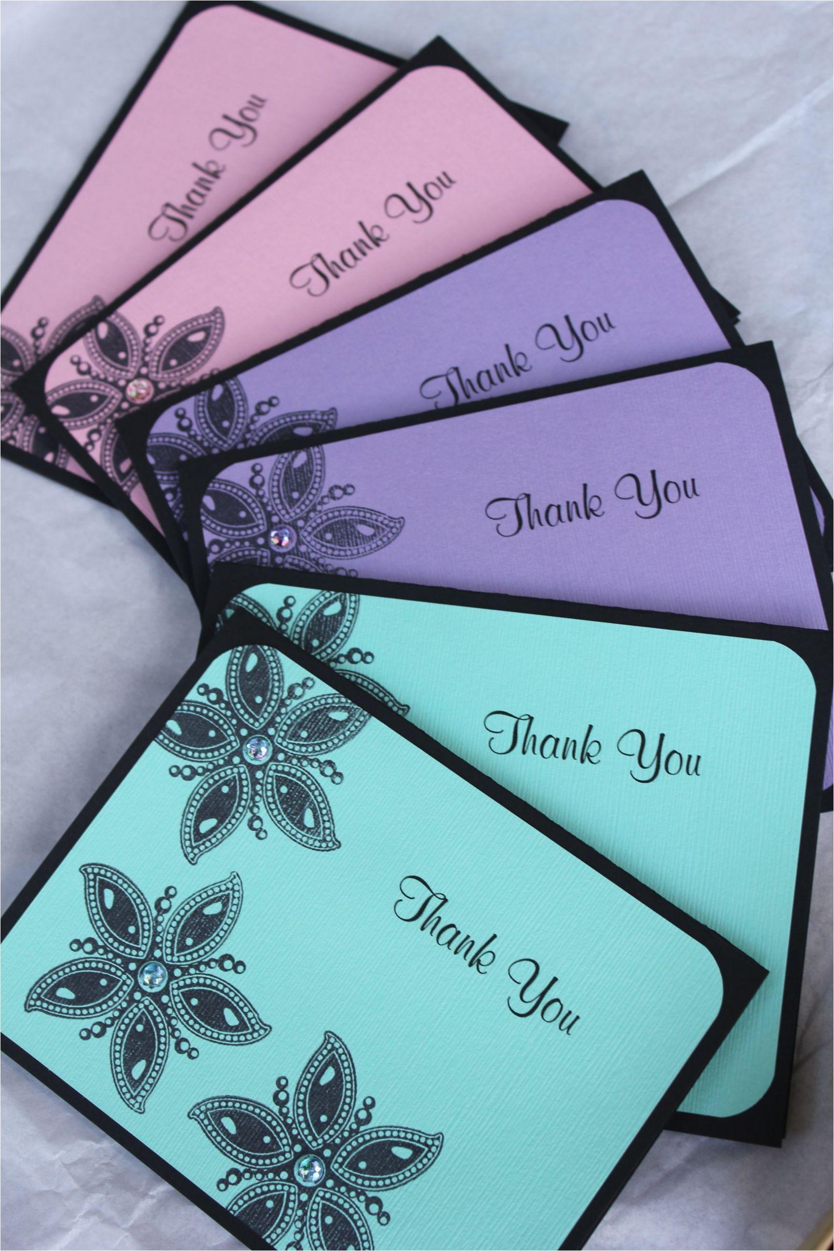 Card Design Handmade Thank You Handmade Thank You Cards by Craftedbylizc Handmade Thank