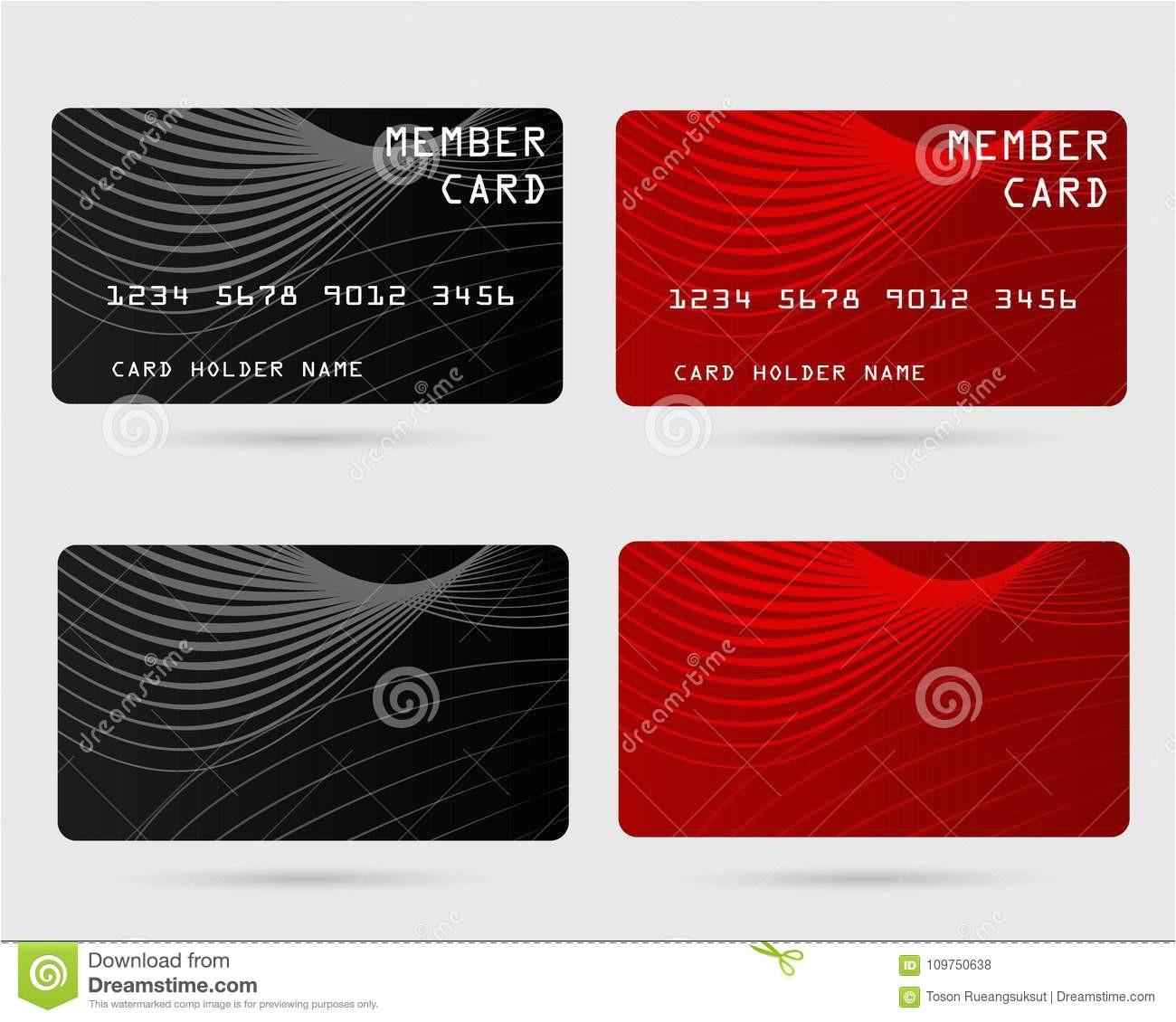 modern credit card business vip member design privilege 109750638 jpg