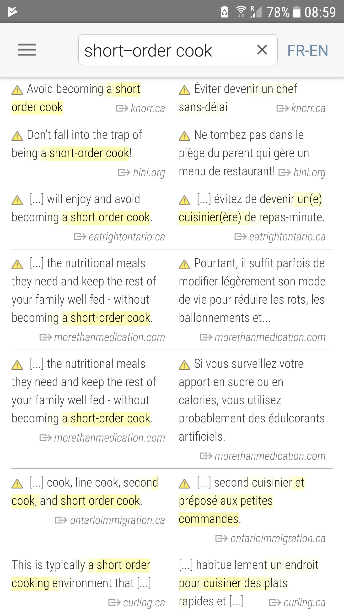 linguee short order cook png