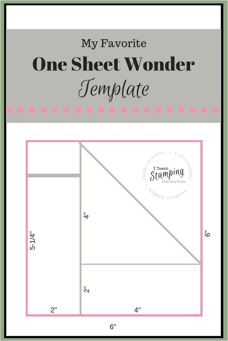 Card Inserts for Handmade Cards One Sheet Wonder Template for Batch Card Making Mit Bildern