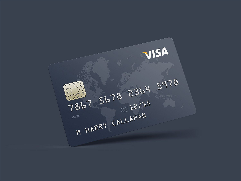 Card Name On Debit Card Photorealistic Credit Card Mockup Credit Card Design
