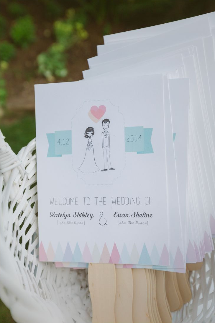 Card Stock for Wedding Programs Diy Whimsical Wedding Party Sketch Program Fans the Bird