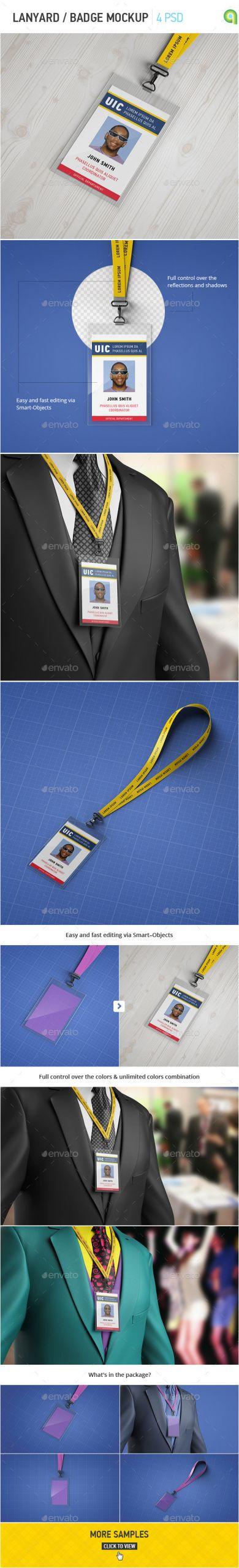 lanyard badge mockup jpg