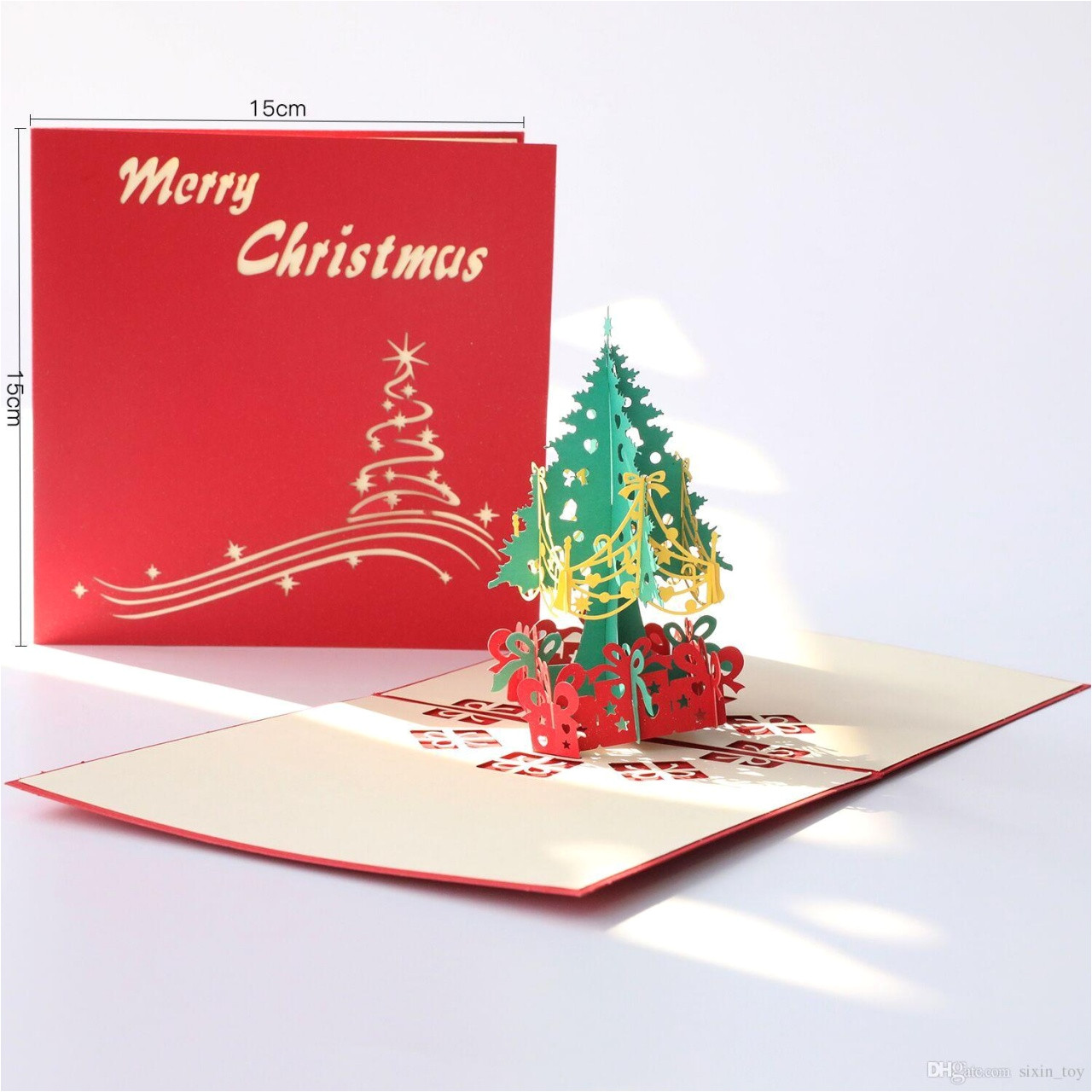 christmas gift made in usa christmas greeting cards 3d handmade pop up greeting cards xmas gift stationery card vintage retro pierced post greeting cards gift cards line from christmas gift jpg