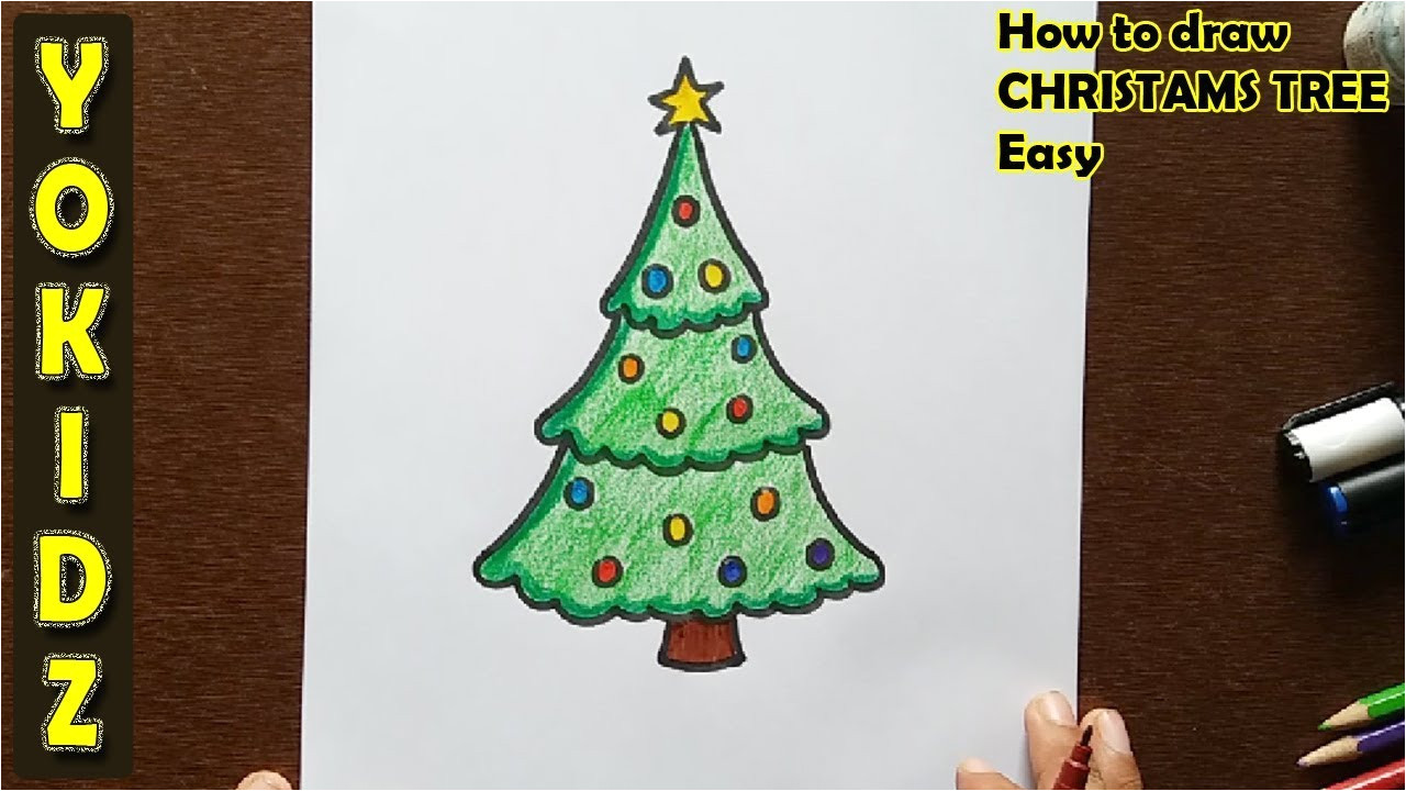 Christmas Ka Greeting Card Kaise Banate Hain How to Draw A Christmas Tree Easy