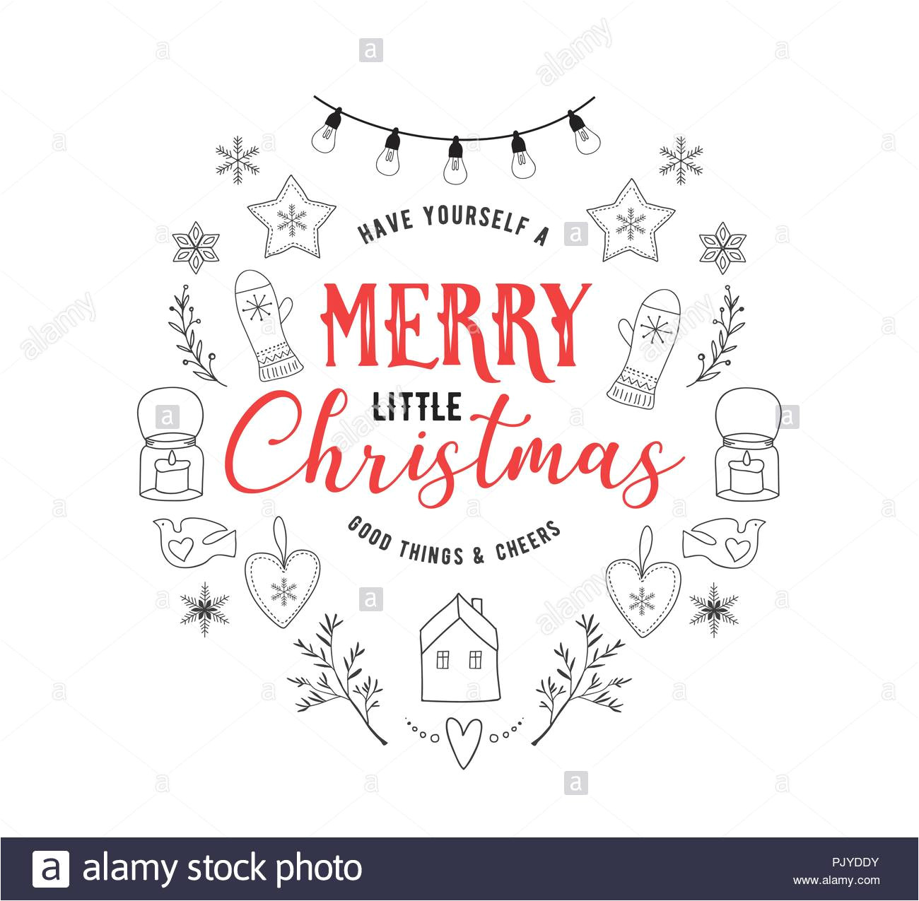 scandinavian style simple and stylish merry christmas greeting card with hand drawn elements quotes lettering pjyddy jpg