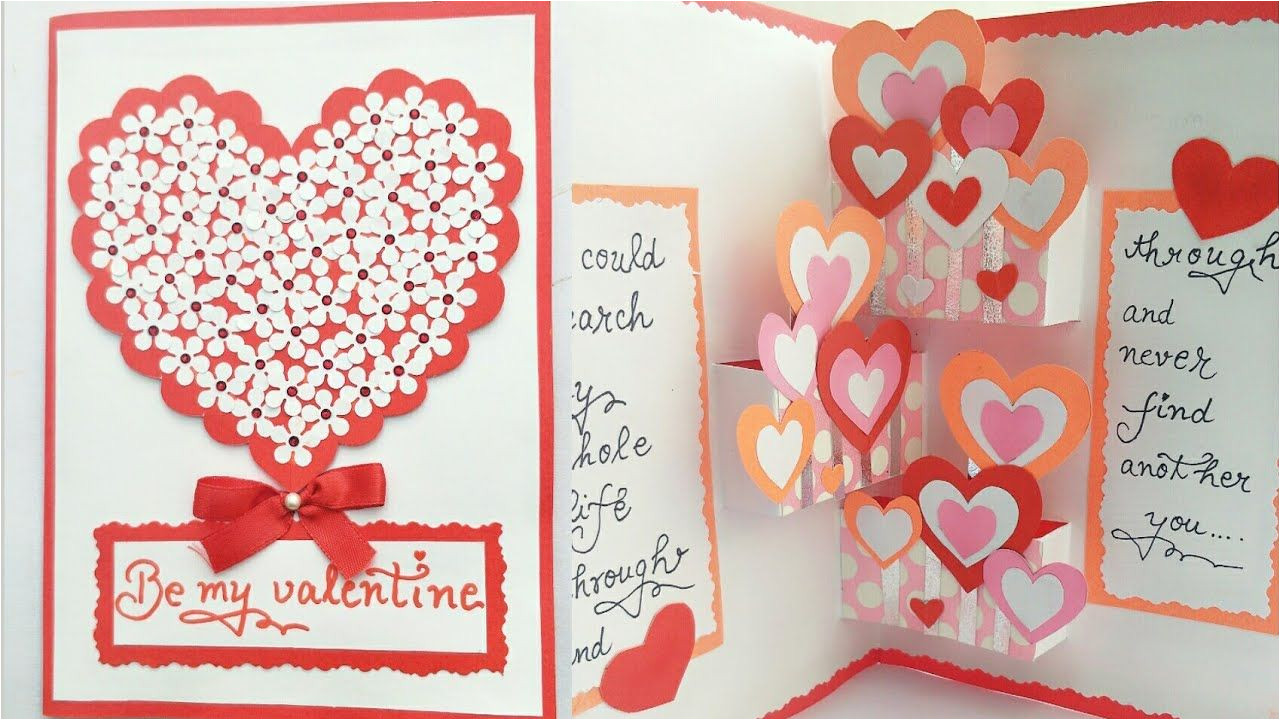 Create Valentine Card with Photo Diy Pop Up Valentine Day Card How to Make Pop Up Card for
