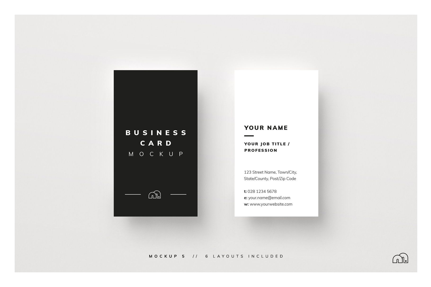 Creative Job Title for Business Card Business Card Mockup Card Business Mockup Mockups with