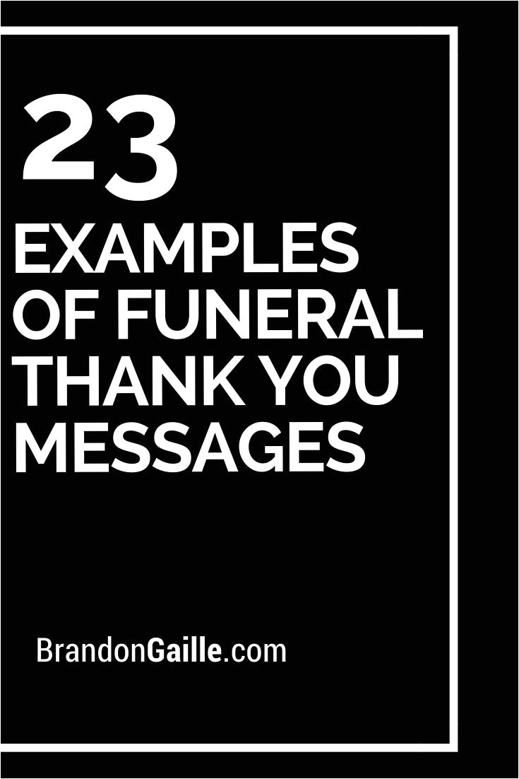 Creative Thank You Card Messages 25 Examples Of Funeral Thank You Messages Thank You
