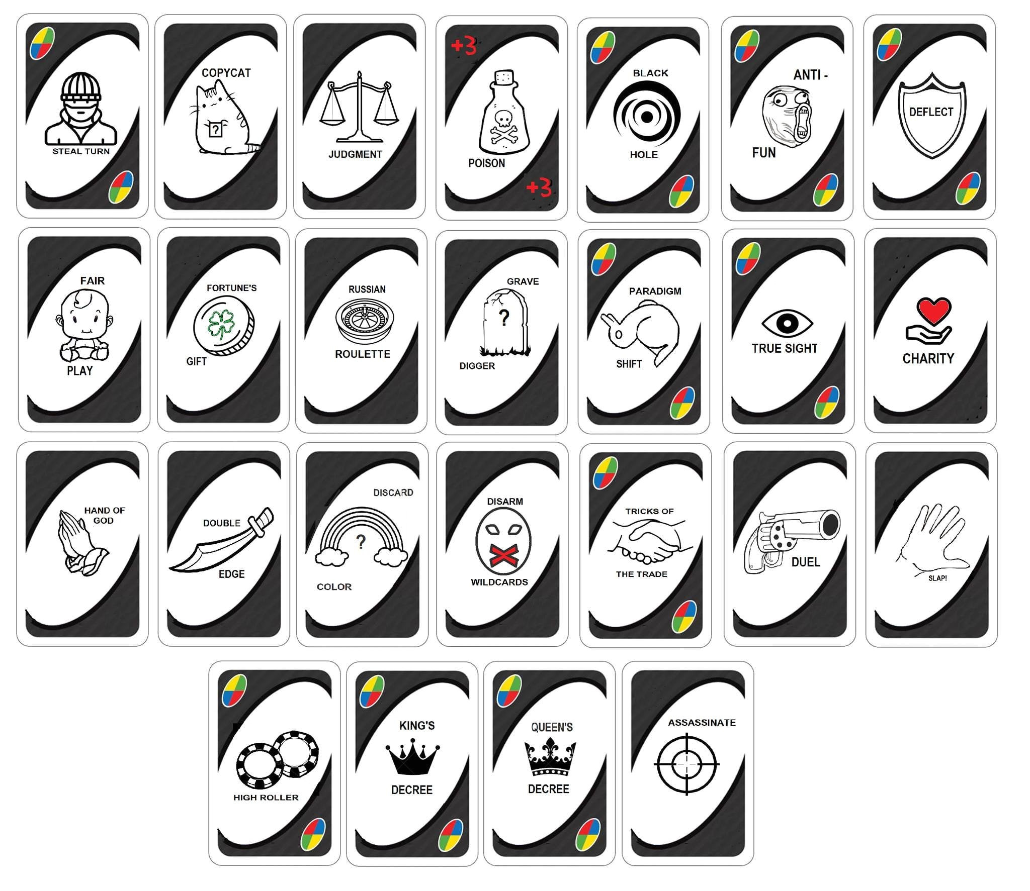 Creative Uno Wild Card Ideas Uno Customizable Wild Card Expansion Complete Version