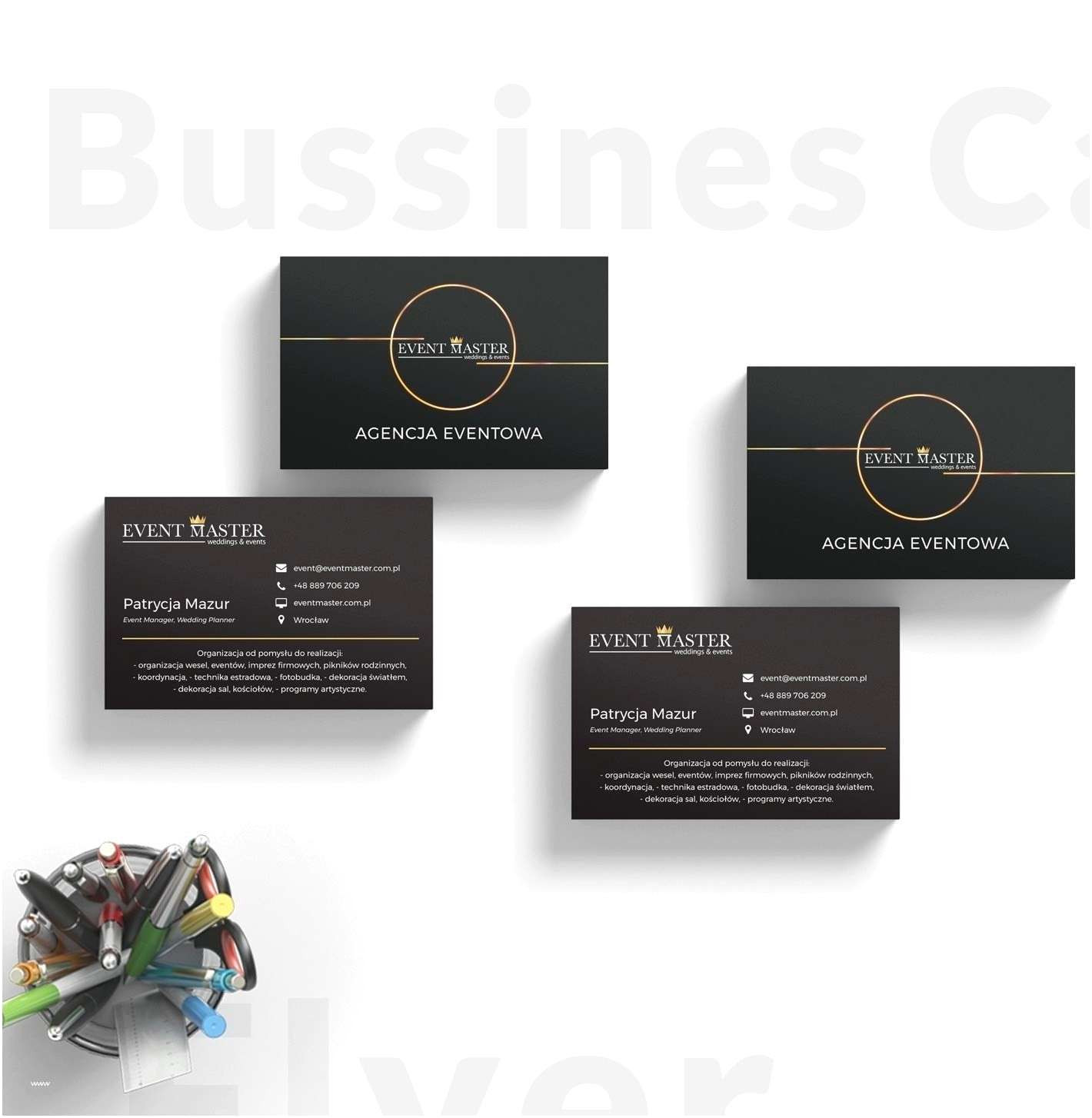 Creative Visiting Card Design for event Management Company Psd Business Card Templates Apocalomegaproductions Com